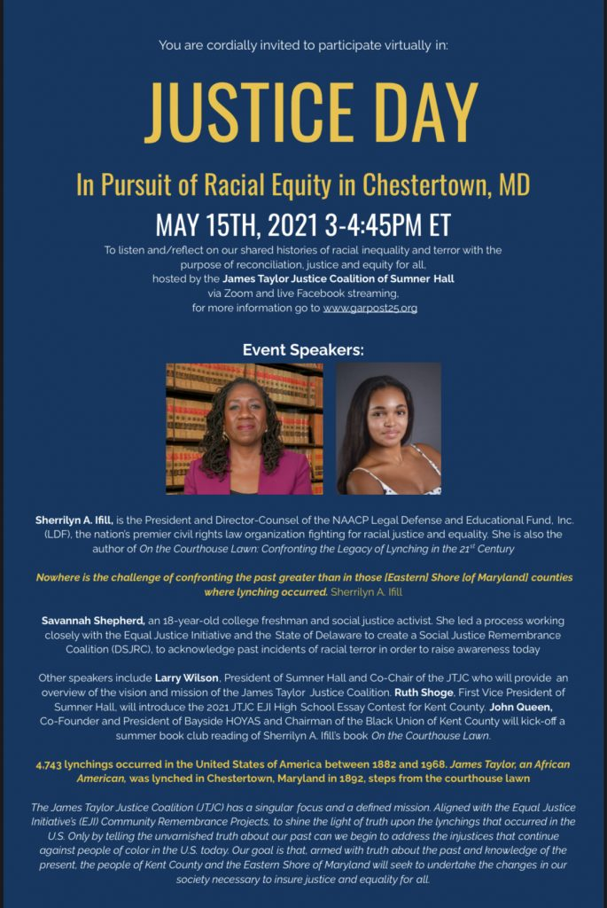 Justice Day: In Pursuit of Racial Equity in Chestertown, Maryland
